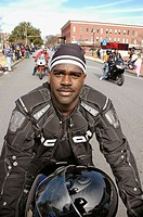 Black men on thier bullet bikes at demonstration  speed motorcycles