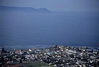 HERMANUS, REPUBLIC OF SOUTH AFRICA. Aerial view of Hermanus and Walker Bay.