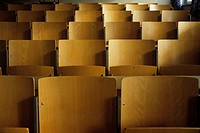 Empty seats in a hall