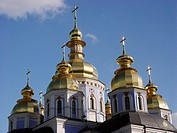 Cupolas of a Christian church