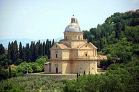 Church of the Madonna di San Biagio (16th century), Montepulciano. Tuscany, Italy
