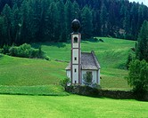 Saint Johann church, Gardena valley, Dolomites, Italy