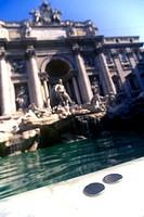 Coins, trevi fountain, Rome italy.