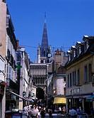 Street scene, Rue de Forges, Dijon, Côte d´Or, France.
