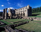 Rievaulx abbey ruins, Helmsley, North Yorkshire, England, U.K.