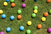 Coloured balls on the ground (thumbnail)