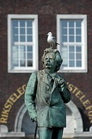 Norway, Bergen, Statue of Grieg.