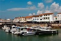 Harbour. Saint-Martin. Ile de Ré. Charente-Maritime. Poitou Charentes. France.