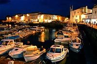Harbour. Saint-Martin. Ile de Ré. Poitou-Charentes. Charente-Maritime. France.