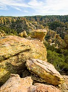 Rock Formations, Echo Canyon, Chiricahua National Monument, Cochise County, Arizona