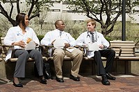 Doctors having lunch