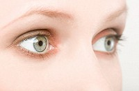 Young womans eyes