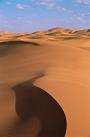 Dunes in the sahara desert