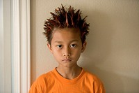 Boy with Orange Spiked Hair