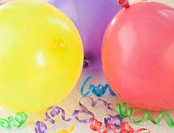 Party Balloons and Curly Ribbons