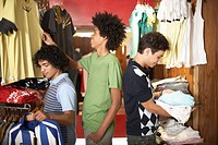 Young Men Shopping