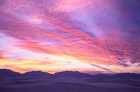 USA New Mexico White Sands National Monument at sunset