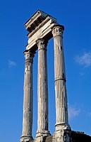 Italy Rome The Forum Corinthian columns of the Temple of Castor and Pollux