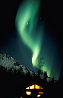 Northern Lights, over Matanuska Peak, Matanuska Valley, Palmer, Alaska.
