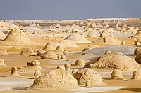 The White Desert near Farafra Oasis. Egypt