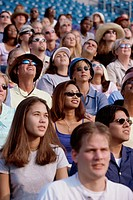 Group of spectators sitting in a stadium