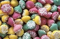 Close-up of a large group of candies