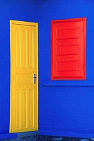 Brightly Colored Architectural Elements