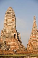 Thailand, Ayutthaya, Wat Chai Watthanaram, full frame