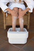 Woman´s Feet in Pedicure Tub