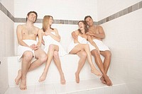 Couples Enjoying a Steam Room