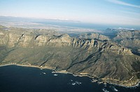 South Africa, Cape Province, Cape Town, Twelve Apostles, aerial view