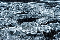 Ice Floe on River