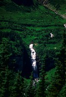 Waterfall in Glacier National Park, Montana.