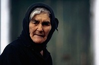 Close-up of a senior woman, Crete, Greece