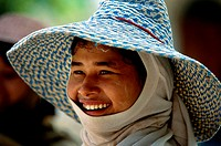 Close-up of a young woman smiling, Thailand