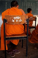 Monks in a classroom, Thailand