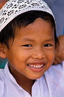 Malaysia, Malacca, Muslim boy smiling NO MODEL RELEASE