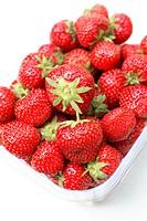 Strawberries in punnet