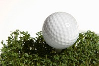 Cress, golf ball, broached,    Series, golf, ball, golf accessories, sport articles, sport, leisure time, casual sport, lawns, concept, golf menu, ath...