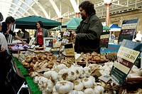 Garlic and other fresh produce on sale