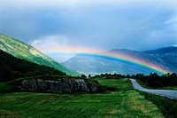 Rainbow over Norwegian Countryside
