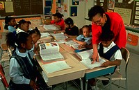 Single-sex second grade class at the Robert W. Coleman Elementary School in Baltimore, Maryland. Administrators believe the all-girl and all-boy class...