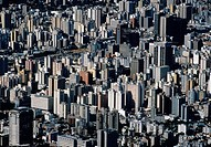 Aerial view of dozens of high-rises in downtown Caracas, Venezuela.