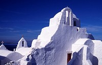 Greece. Cyclades Islands. Mykonos. Paraportiani Church.