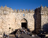 Damascus Gate in the Old City of Jerusalem, Israel