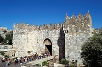 Israel, Jerusalem, Old City Wall, Damascus Gate
