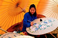 Thailand, Chiang Mai Umbrella Painting MR46-51