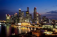 Singapore, Harbour, Skyline