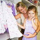 Mother and Daughter in Store