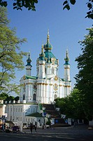 Church of St. Andrew (18 century), Kiev, Ukraine